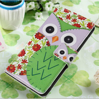 2014 New Owl Wallet Leather Stand Case For Xperia Z2 D6503 L50w Phone Cases Bag Cover Flip Book