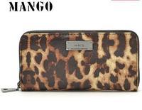 New mango 2014 leopard grain zip purse long design female wallet day clutch
