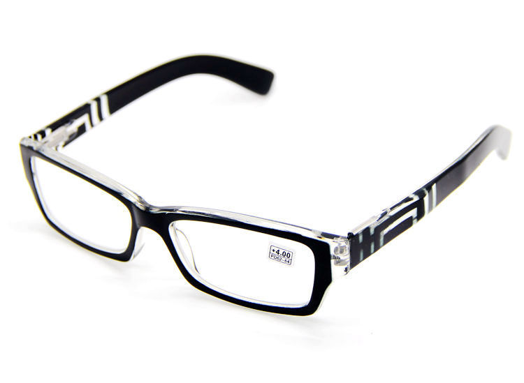 Mens Black Frame Reading Glasses : Mens Reading Glasses Fashion Black Frame Readers 1.0 1.25 ...