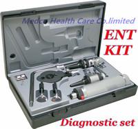 Free shipping High grade profesional multi-purpose ENT Diagnostic kit ENT kit ENT set diagnostic set otoscope Ophthalmoscope