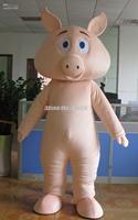 2014 adult size Halloween Christmas custom pig Mascot Costume Fancy Dress Hot Sale