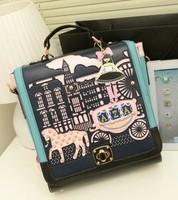 vintage new 2014 women messenger bag horse handbags designers brand leather bags women bag shoulder bags