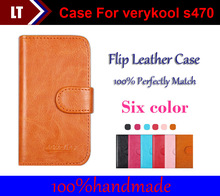 Six colors optional Multi-Function Card Slot Flip Leather Cases For verykool s470 Cover smartphone Slip-resistant Case
