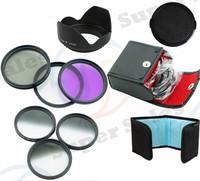 58mm Graduated Grey ND ND4 ND8  Set  + UV CPL FLD Filter Kit  + Flower Shape Lens Hood for Canon EOS 18-55mm Lens