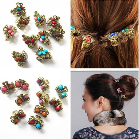 New Retro Vintage Butterfly/ Peacock/ Heart Shape Rhineston Hairpins/ Hair Claw hair Clips Hair Accessories(China (Mainland))