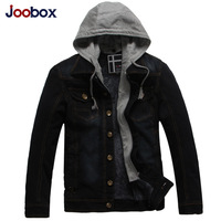 2014 New Arrived JOOBOX men's Cowboy Coat  with soft nap in the fall and winter men's Cowboy Jacket with the Cap