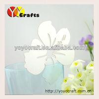 Unique white paper flower lace wedding favor laser cut glass place card holder