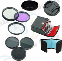 ND2 4 8 Filter Kit set  Flower Petal Camera Lens cap 58mm CPL+UV+FLD  Filter CASE Kit for Canon EOS 450D 500D 600D 1100D