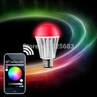 Free shipping E27 AC85-264V small power 7W WiFi RGBW LED Bulbs