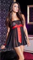 Plus Size 2014 Hot Euro Black Gauze Lace With Red Bowtie Sexy Lingerie New Style underwear Pajamas Sleepwear Good Elastic