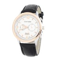 2014 CAFUER Brand Men Quartz Business Watch , Men Military Movement Calendar Leather Watch