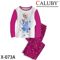 Girls Frozen Pajamas Sets Children Autumn -Summer Clothing Set New 2014 Wholesale Kids Princess Long Sleeve Pyjamas X-073A