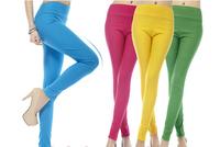 2014 the new high waist high ball nine minutes of pants candy color pencil pants show thin leg pants  pants leggings