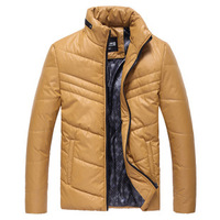 Mens Fashion Casual Thicken Down Cotton Jacket,Winter Snow Jacket,Stand Collar Warm Coat,Parkas,5 Colors,Size M-3XL,MY120