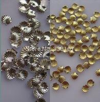 50pcs/Pack DIY Tips Decoraiton  3mm/5mm Gold+Silver Mixed Metal Shell Design Nail Art Decoration