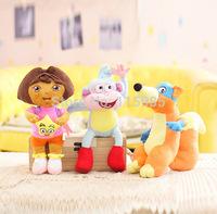 25cm 3pcs/lot Dora the Explorer plush toy Swiper Fox boots Monkey  toys Action Figures Dolls kids children girl gift plush doll