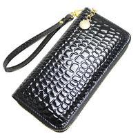 Japanned leather women's long design wallet wallet women's clutch women's handbag zipper bag