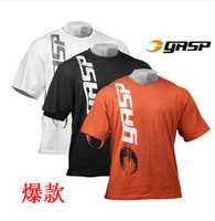 2014 New Fitness gasp rag tops for men short sleeve T shirt Sport muscle shirt Bodybuilding and fitness boxing clothing plus