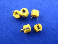 500pcs Variable Ceramic 6mm Trimmer Capacitor(Yellow) 40pF
