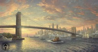 High quality,Landscape oil painting,Thomas Kinkade painting,The Spirit of New York,decorative painting,hand-painted,free shippin