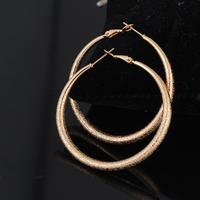 2014 Latest Korean Trend Fashionable 18K Gold Plated Hoop Earrings for Girls ER0317