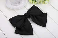 "The best price +best seller 7"" Big Hair Satin Bow Hair Clips Gossip girl SWEET style bowknot 6 colors ."