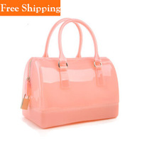 Glitter Jelly Bag Summer Bucket Handbag Transparent Crystal Women Silicone Jelly Candy Color Bag Ladies Designer Bags Beach