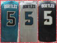 2014 Mens Jacksonville QB #5 Blake Bortles Black/Green/White American Rugby Elite Football Sport Jersey.Stitched 44-56