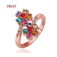PR547 18K Gold Plated Fashion Rings wholesale price brand design  brand Wedding Jewelry