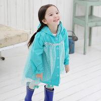 Hot Frozen Rain Coat Raincoat Rainwear/Rainsuit For Children Kids Waterproof Frozen Elsa Raincoat Children's Cartoon Poncho C10