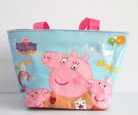 2014 cartoon peppa pig bags for kids and mom children mochila infantil mochila peppa pig women handbag  bolsas femininas