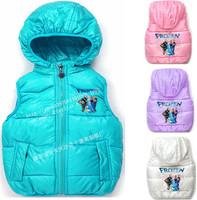 New 2014  Frozen Kids Vests&Waistcoats Children Vest Girls&Boys Clothing Autumn&Winter Coletes Infantis 1 Pcs Free Shipping c20