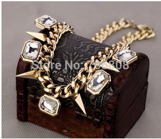 Новый панк ожерелья & хрустальные подвески