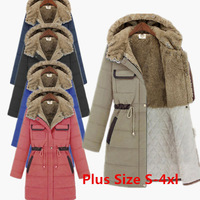 Coat For Women Long Parkas 2014 Winter Women's Thick Hoodies Cotton Womens Jackets And Coats Brand Overcoat