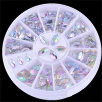 2014 New 2 Sizes Colorful Nail Art Rhinestone Decoration/Beautiful Transparent Glitter Decoration for Nails