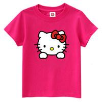 free shipping / sweet hello kitty pure cotton casual shirt women's clothing oversize t shirt men