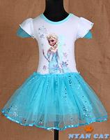 girls one-piece dress, kids Frozen Girl Princess Girl Dress,frozen nightgown,summer,Girl sleepwear,Kids Clothes,kids pajamas