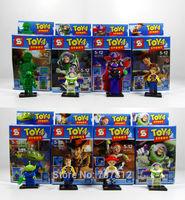 2014 Box Toys Action Figures 8PCS/Set  PVC Cute Toys Building Blocks Best Gift Free Shipping