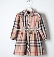 3 - 10 years brand girls dress plaid girls long sleeve dress sashes kids dress spring autumn kids clothes teenager girl dresses