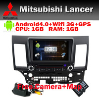 Wifi 3G Mitsubishi Lancer dvd android 4.0 GPS Navi Car PC BT Radio RDS TV USB SD IPOD Steering wheel Control Free Camera