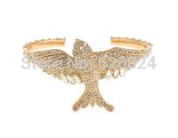 JC100 2014 Newest Women Fashion Design Cuff Bracelets SPARROW CUFF Gold Glinting Pave Crystals Flight of Fancy Best Price