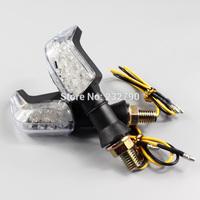 2x Black Motorcycle 12V LED Turn Signal Light Indicator Light Amber Blinker Bulb Motorbike Bending Lamp #3375*2