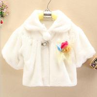Free shipping Autumn  Korean Elegant  Fashion  Trend Bow  Lace Colored flowers  shawls Cloak  Girl Princess cloak cape coat 2014