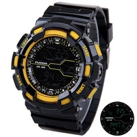 2014 New LED Men Digital Sports Watch Japan Movt Stopwatch Army Military Watches 30ATM Waterproof Sports Wristwatch for Men