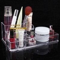 Free Shipping Cosmetic Storage Box Makeup Tools Box Transparent Acrylic Case Wholesale and Retail