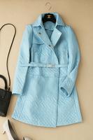 2014 autumn and winter ! line the appendtiff medium-long belt wadded jacket