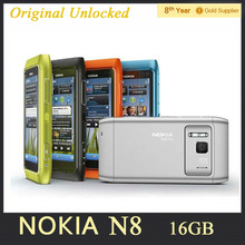 Original Unlocked N8 Nokia Mobile Phone 3.5″ Capacitive Touch screen Camera 12MP WCDMA 3G Refurbished Free Shipping