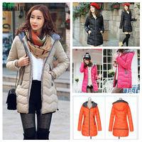 Lanlu 5 Colors 4 Size Optional 2014 Winter & Autum New Down Jackets Women Parkas Coat Warmly SQ569