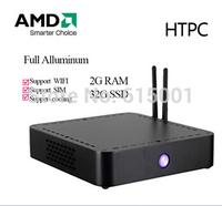 Mini Desktop Computer AMD-T56N Dual Core 1.65GHz Thin Client Mini PC 4G RAM 32G SSD with HDMI+VGA WIFI+Bluetooth FAST MINI PC
