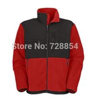 2014 Designer Outdoor Sports North American Men's Red Color Denali Fleece Black Jacket High Quality Fleece Coat 10 colors  453